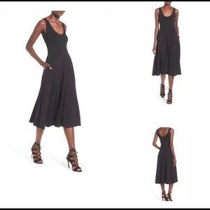 Leith Black Tank Stretch Pocket Dress size Large